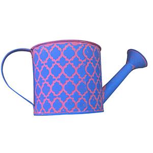 Regadera de lamina azul con rombos