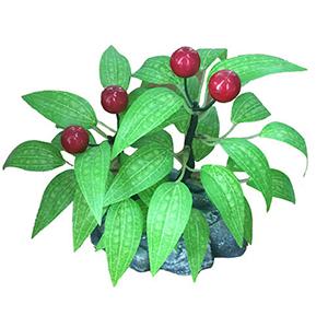 Arbolito de cerezas rojas en maceta diseño piedra