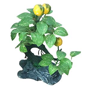 Arbolito de manzanas amarillas en maceta diseño piedra