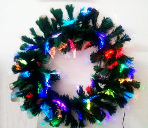 Corona de feston con luz de fibra optica de 50cm