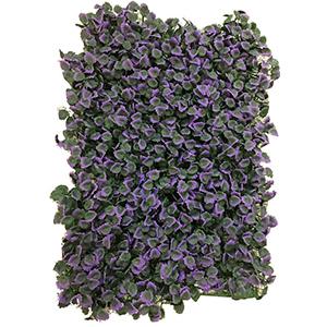 Tapete de follaje con flores moradas de 60x40cm
