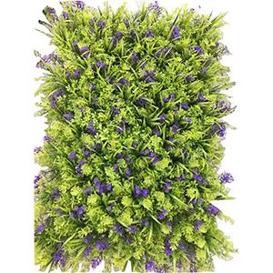 Tapete de follaje verde con morado de 60x40cm