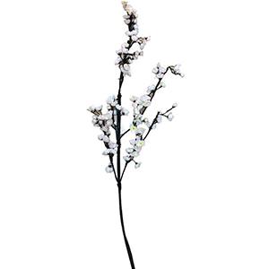 Vara con flor de durazno blanca