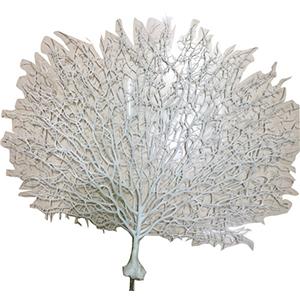 Planta de plastico blanca diseño coral