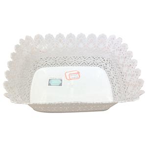 Maceta de plastico rectangular blanca