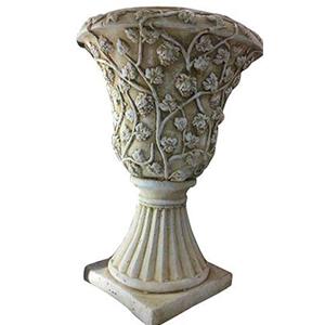 Macetero diseño copa terminado granito de 49x70cm