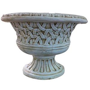 Macetero diseño grecas terminado granito de 34x48cm