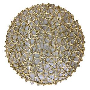 Mantel individual diseño tejido dorado de 36 cm