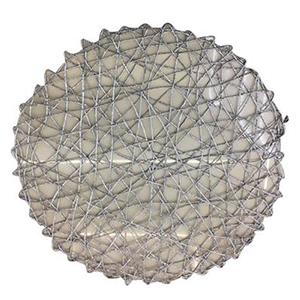 Mantel individual diseño tejido plateado de 36 cm