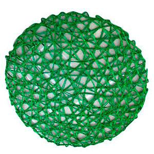 Mantel individual diseño tejido verde de 36 cm