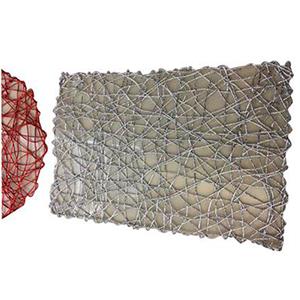 Mantel individual rectangular diseño tejido rojo de 43x30cm