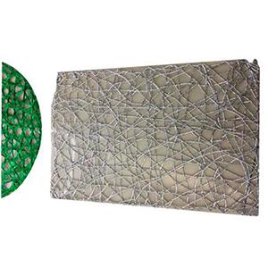 Mantel individual rectangular diseño tejido verde de 43x30cm