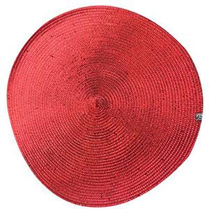 Mantel individual rojo de 36 cm