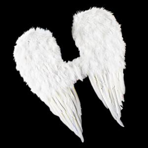 Alas de Angel de plumas blancas de 50x62cm