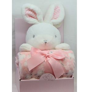 Juego de accesorios para bebe diseño conejo en color rosa