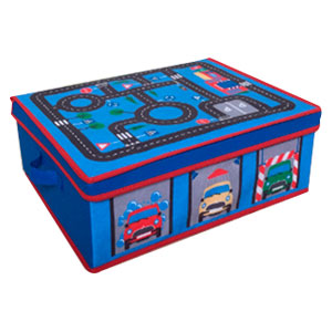 Juguetero de tela plegable diseño intantil para niño