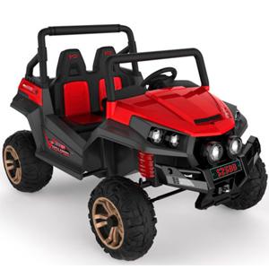 Racer de bateria recargable con luces y entrade mp3 rojo de 127x90x53cm