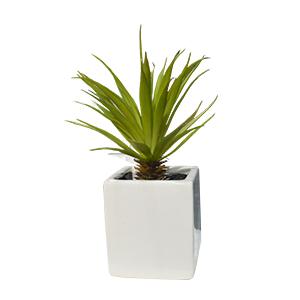 Planta artificial de agave en maceta de ceramica