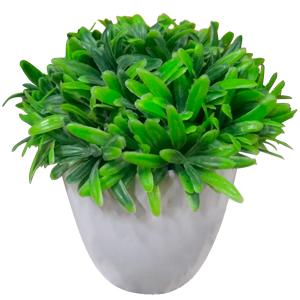 Planta artificial  en maceta de ceramica