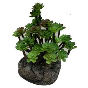 Alcachofa artificial en maceta de piedra