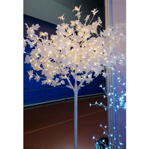 Árbol de Maple blanco c/400 luces led blancas de 210cm