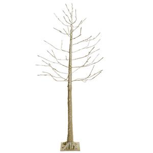 Árbol dorado con luces led en las puntas de las ramas con 160 puntas de 180cm