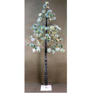 Pino nevado con luces led de 120 puntas de 200cm