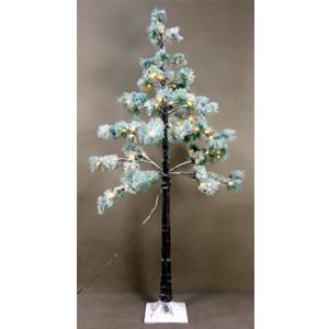 Pino nevado con luces led de 96 puntas de 150cm