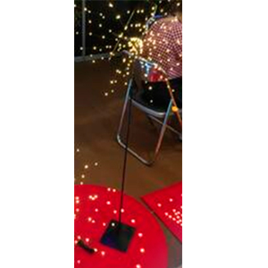 Lampara de piso diseño varas con luces en las puntas de 150x50cm