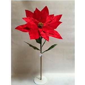 Nochebuena de terciopelo roja de 120x72cm