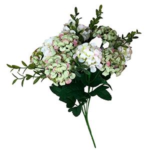 Ramo de Hortensias blancas y verdes