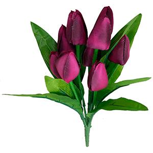 Ramo de tulipanes fiusha