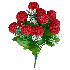 Ramo de Hortensias rojas