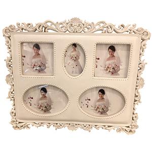 Portarretratos rectangular para 5 fotos
