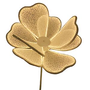 Flor blanca con luz de 1.65 m