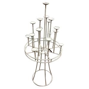 Candelabro de metal blanco para 16 velas de 1 m