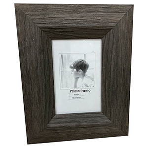 Portarretratos de madera color gris de 13x18cm