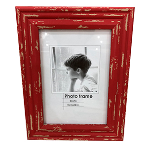 Portarretratos de madera color rojo de 13x18 cm