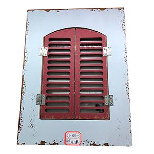 Portarretratos blanco con puertas rojas