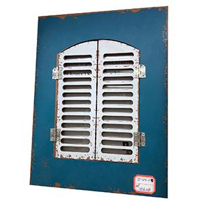 Portarretratos azul con puertas blancas