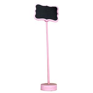 Pizarron rosa con pedestal