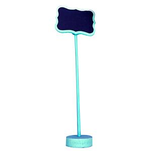 Pizarron azul con pedestal