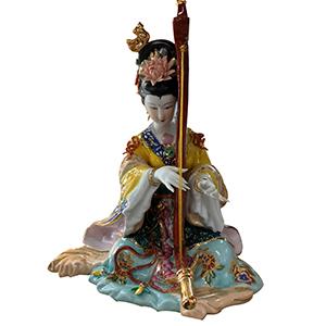 China tocando arpa