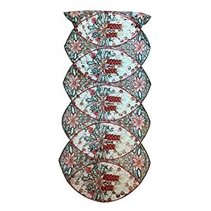 Camino de mesa diseño velas de 38x180cm