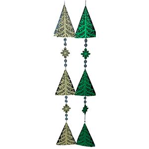 Guia de pinos navideños en color dorado