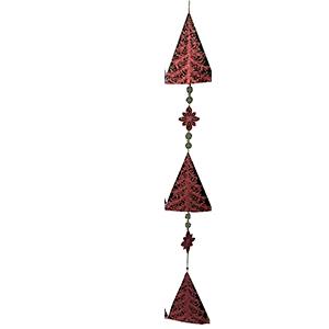 Guia de pinos navideños en color rojo