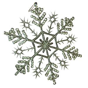 Colgije diseño copo de nieve dorada