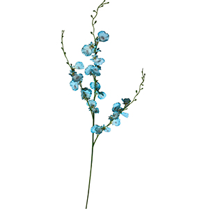 Vara con flores azules