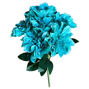 Ramo de flores rosas azules