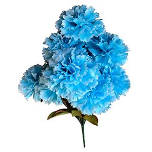 Ramo de claveles azules